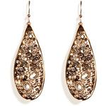 Alexis Bittar Gold and Crystal Earrings