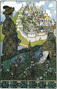 Ivan Bilibin ~ The Island of Buyan (1905)