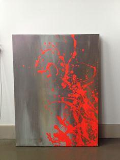 Artist: Greta Claire Acrylic & Latex Paint on Canvas. For sale.
