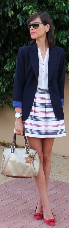 Cute outfit!  As soon as I get sexy legs, I am gonna get cute skirts like these to show them off