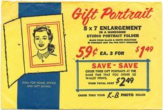 Vintage film processing envelope: K-B Photo by B-Kay, via Flickr