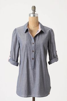 Swingy Chambray Tunic at Anthropologie, $88.