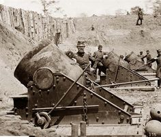 Yorktown, Virginia. Battery No. 4 mounting 13-inch mortars. South end