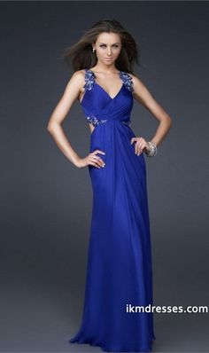 015 Collection Sheath/Column V Neck Floor Length Chiffon http://www.ikmdresses.com/2012-Collection-Sheath-Column-V-Neck-Floor-Length-Chiffon-p84410