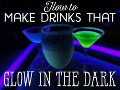 Glow Party Food, Glow Pool Parties, Party Food And Drinks, Kid Drinks, Fruit Drinks, Yummy Drinks, Beverages, Glow In Dark Party, Glow Stick Party