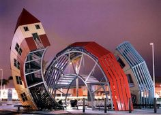 """Dennis Oppenheim   """"Bus Home"""" at the Buenaventura Mall Transit Center, Ventura, CA  --- NYNYNY, via Flickr"""