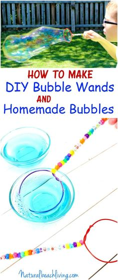 How to Make DIY Bubble Wands & Homemade Bubbles, These are The Best Summer Activities for kids, Easy homemade bubble wands are a great summer Party idea or Craft, Homemade Gift ideas for Kids or a FUN Summer Craft for kids Baby Crafts To Make, Summer Crafts For Kids, Summer Activities For Kids, How To Make Diy, Toddler Crafts, Diy For Kids, Gifts For Kids, Summer Ideas, Christmas Activities