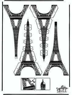 Bouwplaat voor eiffeltoren