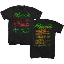Poison Open Up And Say Ahh Song List Adult T Shirt 80's Rock Music