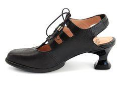 Fluevog Tav shoes, black.