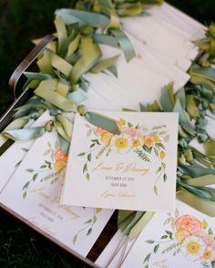 The Programs - Lana and Danny's Homespun Colorado Wedding