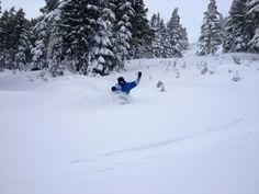 Pretty deep. Pretty nice.  #snow #powder #snowboarding