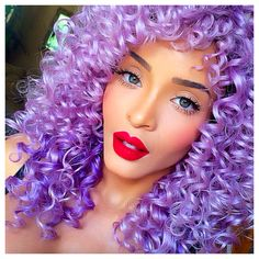 Lavender Hair #curly #color #pastelhair