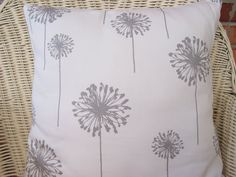 Decorative Pillows Throw Accent Pillows Cushion Covers BOTH Sides Gray 18x18 Dandelion