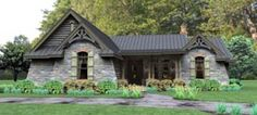 My favorite little cottage idea. Elevation of Cottage Country Tuscan House Plan 65874 Tuscan House Plans, Rustic House Plans, Lake House Plans, Craftsman Style House Plans, Ranch House Plans, Cottage House Plans, Cottage Homes, House Floor Plans, Craftsman Lake House