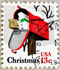 stamp USA 13c christmas stamp United States of America us 13 cent xmas timbre États-Unis noel u.s. postage selo Estados Unidos navidad sello USA francobolli USA Stati Uniti d'America почтовая марка США pullar ABD 邮票 美国 Měiguó USA Weihnachtsmarke Kerstmis by stampolina, via Flickr