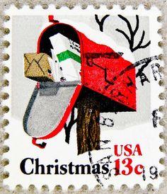 stamp USA 13c christmas stamp United States of America us 13 cent xmas timbre États-Unis noel u.s. postage selo Estados Unidos navidad sello USA francobolli USA Stati Uniti d'America почтовая марка США pullar ABD 邮票 美国 Měiguó USA Weihnachtsmarke Kerstmis by stampolina, via Flickr