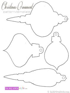 felt christmas ornament templates - Bing Images