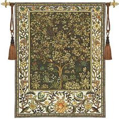 Tree of Life Tapestry / Umber / Chenille & Cotton / 53 x 79
