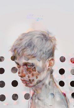 YDK Morimoe aka 非 aka Xhxix aka HI aka 非さん (Japanese, based Tokyo, Japan) - Untitled  Digital Arts: Paintings