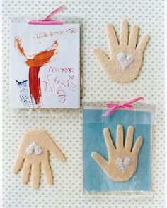 Children can use the shape of their hand to create a batch of holiday cookies for loved ones.