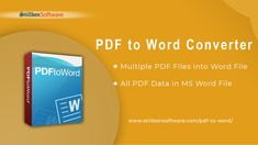 Best PDF to Word Converter offers to batch convert PDF to Word editable DOCX file. It allows you to export and save PDF to Word Docx/Doc file to re-edit PDF to editable Word file.