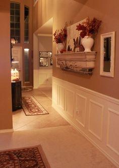 Love this hallway decor