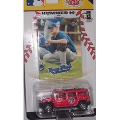 Chicago Cubs 2005 Hummer H2 Diecast Collectible MLB Truck W/ Fleer Ultra Kerry Woods Sports Trading Card 1:64 Scale Car by Fleer  $9.49