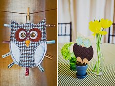Cute owl baby shower theme decorations