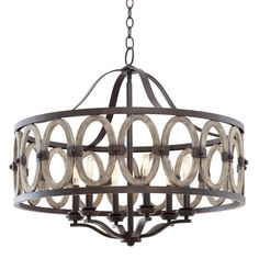 Driftwood Entwined Ovals Chandelier - would be perfect in my grey office!