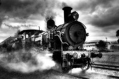 really historic black steam locomotive