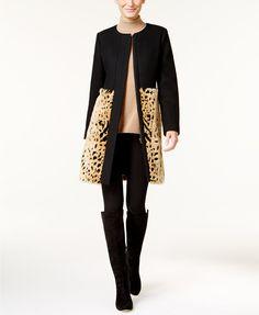INC International Concepts Faux-Fur Walker Coat, Only at Macy's | macys.com