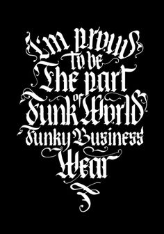 logotype  on clothes for Funky Business Wear by pandalya, via Behance