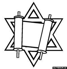 1000 images about digi jewish on pinterest coloring for Jewish symbols coloring pages