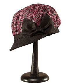 Look what I found on #zulily! Pink & Black Boiled Bow Hat #zulilyfinds