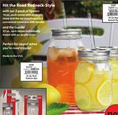 Heliotrope: Redneck Guzzler and Redneck Sippers