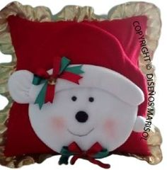 cojines navideños Christmas Sewing, Christmas Pillow, Christmas Items, Christmas Holidays, Christmas Decorations, Christmas Ornaments, Snowman Crafts, Holiday Crafts, Theme Noel
