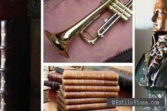 Detalles vintage y antigüedades para la decoración del hogar.  #libros #decoración #vintage #decor