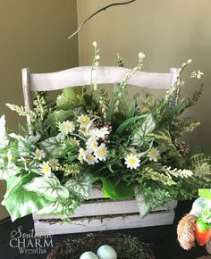 How to Make a Spring Flower Arrangement in a Tool Box
