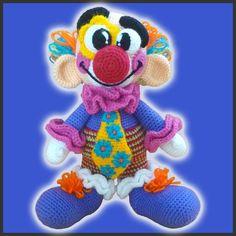 Amigurumi Crochet Patron Miliki El Payaso por DeliciousCrochet