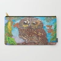Design your everyday with carry-all-pouches you'll love. Store everything from makeup to iPads in pouches featuring designs from independent artists. Saw Whet Owl, Pouches, Carry On, Artist, Design, Hand Luggage, Carry On Luggage, Design Comics, Artists