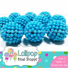 LT. BLUE Berry Beads 20mm Beads Raspberry Beads Vintage Style Beads 10ct Chunky Beads Bubblegum Beads Acrylic Beads Opaque Bubble Gum Beads on Etsy, $5.75