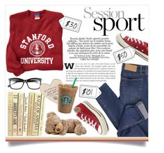 """""""Sportish"""" by edita-m ❤ liked on Polyvore featuring Cheap Monday, Converse, Bobbi Brown Cosmetics, Etiquette, women's clothing, women, female, woman, misses and juniors"""