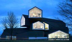 Herzog & de Meuron Architecture | Architectural Digest Vitra Museum, Vitra Design Museum, Architectural Digest, Herzog Und De Meuron, Architecture Photo, Inspiration, Mansions, House Styles, Building