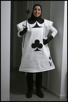 Card Soldier for Alice in Wonderland costumes. Easy Peasy. Pillowcase with iron transfer paper.