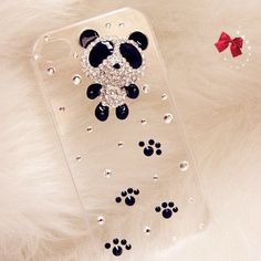 Cute Handmade 3D Crystal Bling Panda Foot Step iphone 4 4s Clear Hard Case (Limited Quantity) by FancyG, http://www.amazon.com/dp/B00947B75W/ref=cm_sw_r_pi_dp_8Xxcrb1QA80BA