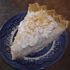 Make and share this Sugar-Free Coconut Cream Pie (Diabetic) recipe from Food.com.