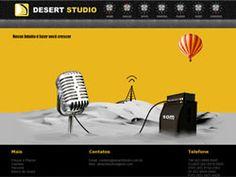 Site desenvolvido para a produtora de áudio Desert Studio.