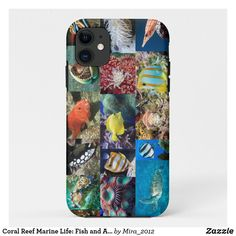 Coral Reef Marine Life: Fish and Animals Photos iPhone 11 Case