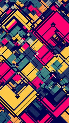 ⌂ Pictures and Wallpapers HD Pink and Yellow Abstract Grid Wallpaper How Different Types Of Water Fi Grid Wallpaper, Graffiti Wallpaper, Colorful Wallpaper, Cool Wallpaper, Mobile Wallpaper, Pattern Wallpaper, Wallpaper Backgrounds, Pink Wallpaper, Digital Illustration